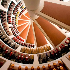 White Spiral Cellar with Leather Treads